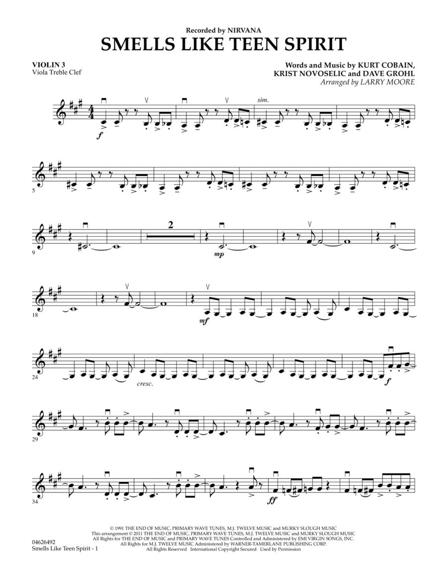 Smells Like Teen Spirit - Violin 3 (Viola Treble Clef)