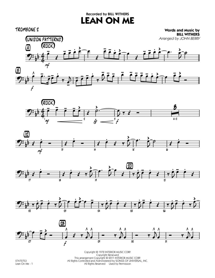 Lean On Me - Trombone 2