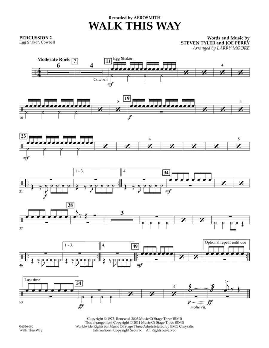Walk This Way - Percussion 2