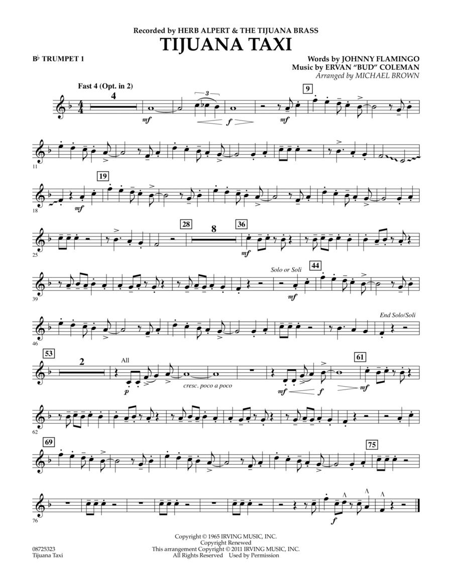 Tijuana Taxi - Bb Trumpet 1