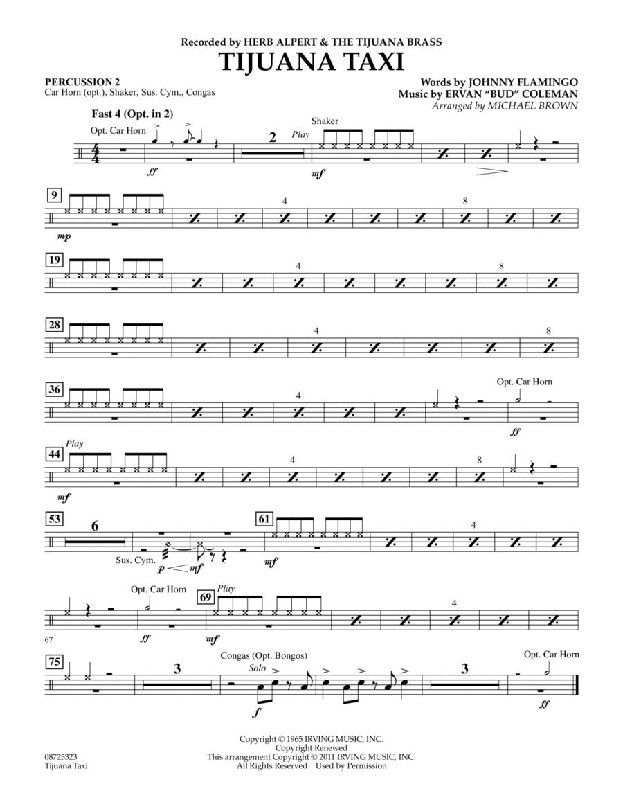 Tijuana Taxi - Percussion 2