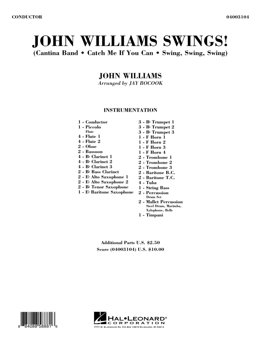 John Williams Swings! - Full Score