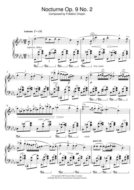 Nocturne Op. 9, No. 2