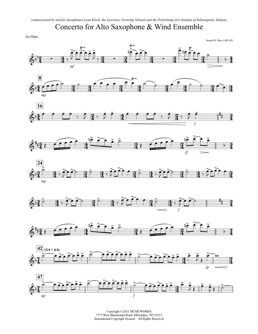 Concerto For Alto Saxophone And Wind Ensemble - Flute 1