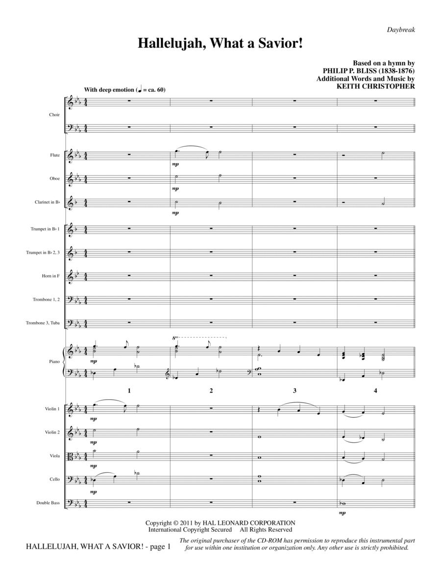 Hallelujah, What A Savior! - Full Score