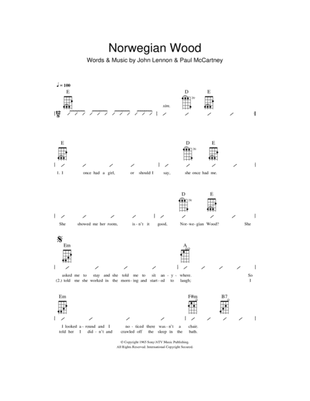 Norwegian Wood (This Bird Has Flown)