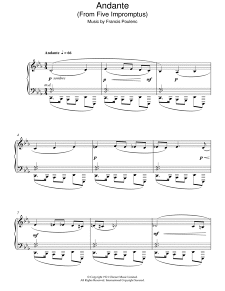 Andante (From Five Impromptus)