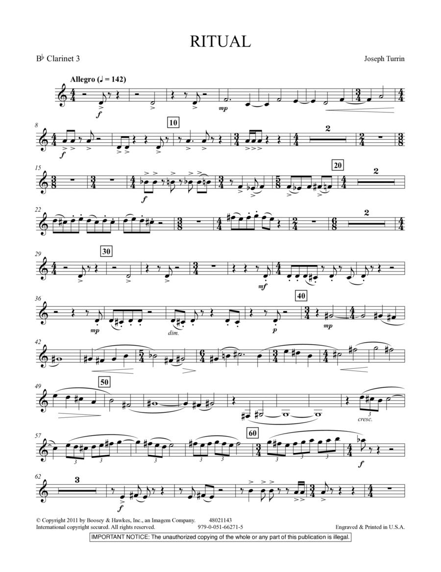 Ritual - Bb Clarinet 3