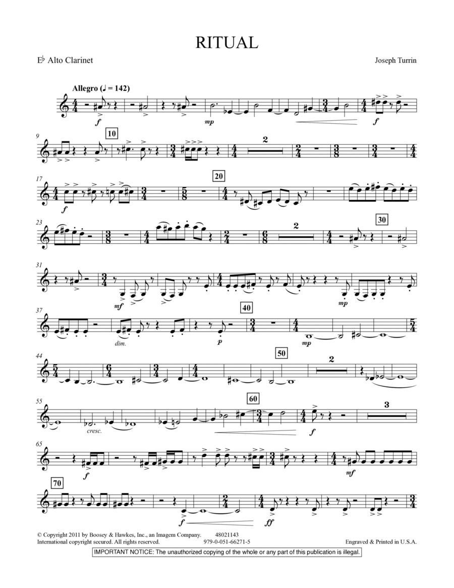 Ritual - Eb Alto Clarinet