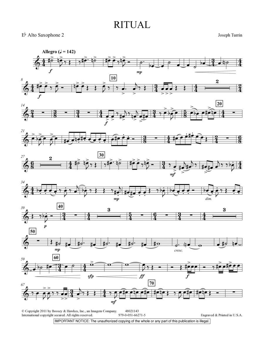 Ritual - Eb Alto Saxophone 2