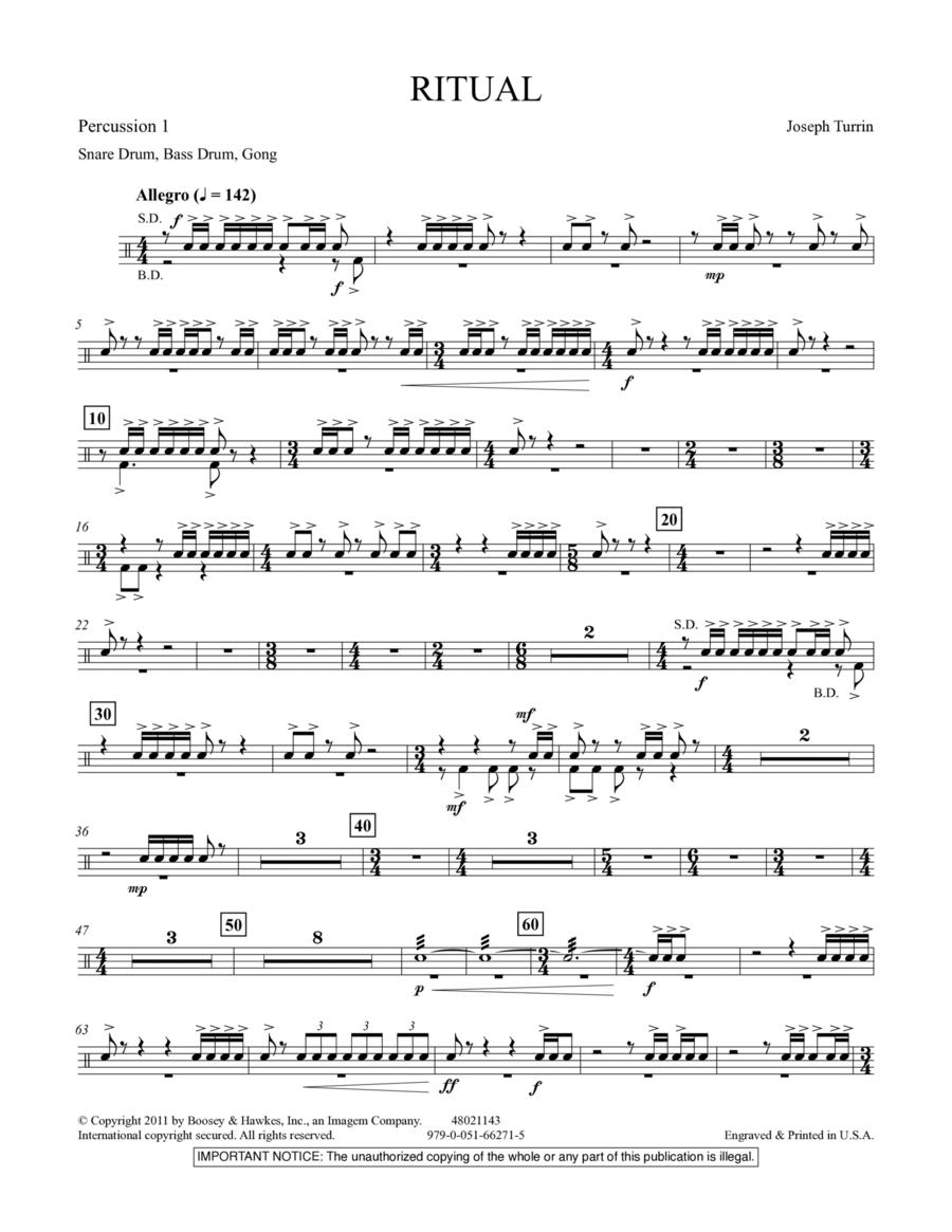 Ritual - Percussion 1