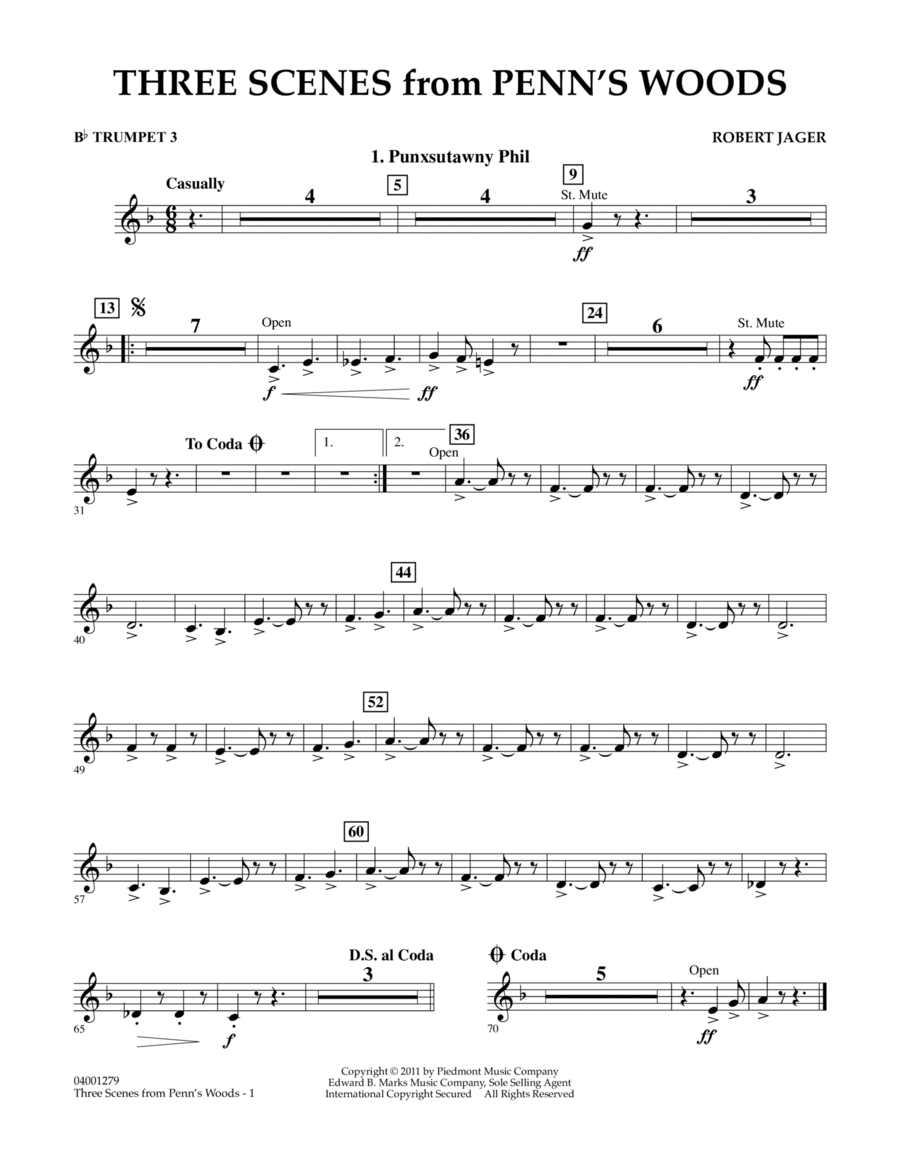 Three Scenes From Penn's Woods - Bb Trumpet 3