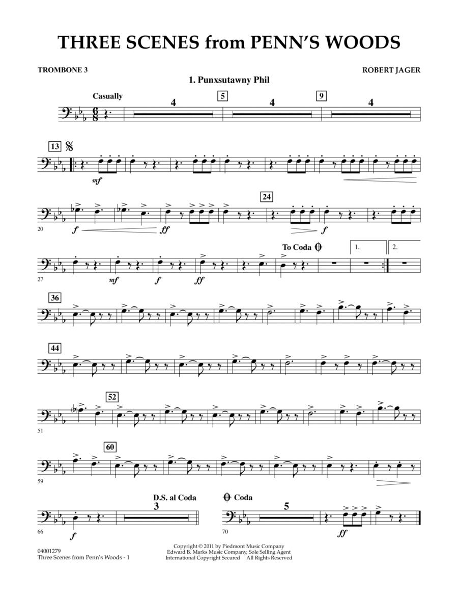 Three Scenes From Penn's Woods - Trombone 3