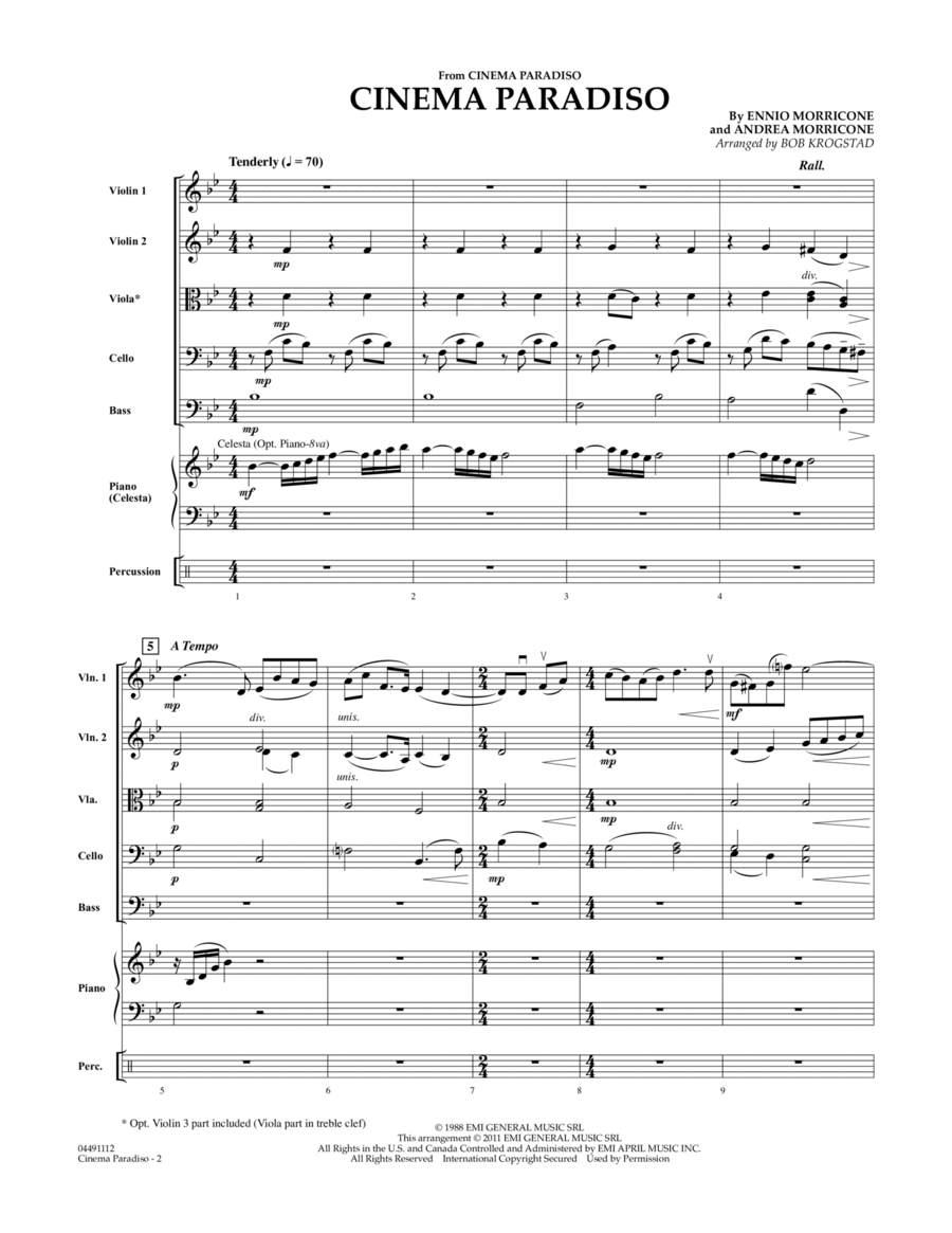 Cinema Paradiso - Full Score