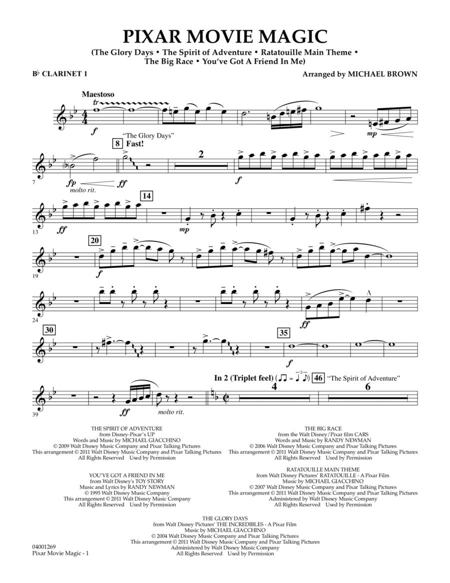 Pixar Movie Magic - Bb Clarinet 1