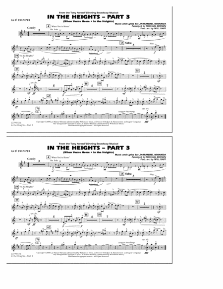 In The Heights: Part 3 - 1st Bb Trumpet