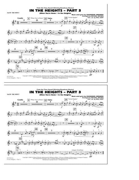 In The Heights: Part 3 - 3rd Bb Trumpet