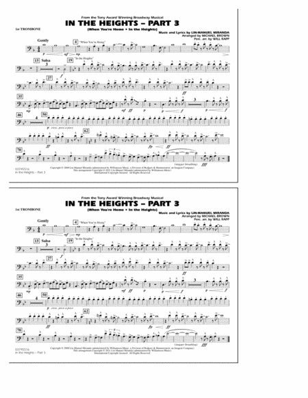 In The Heights: Part 3 - 1st Trombone
