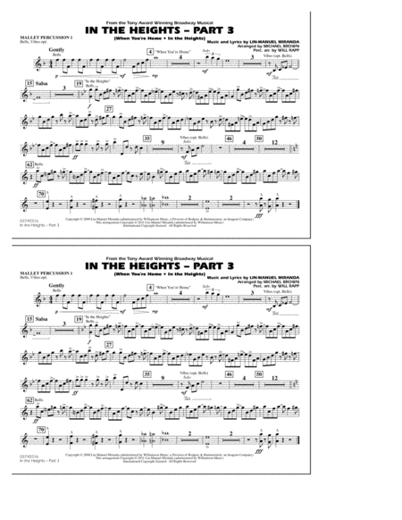 In The Heights: Part 3 - Mallet Percussion 1