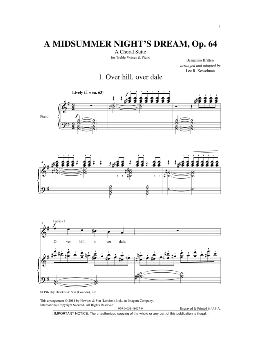 A Midsummer Night's Dream - A Choral Suite