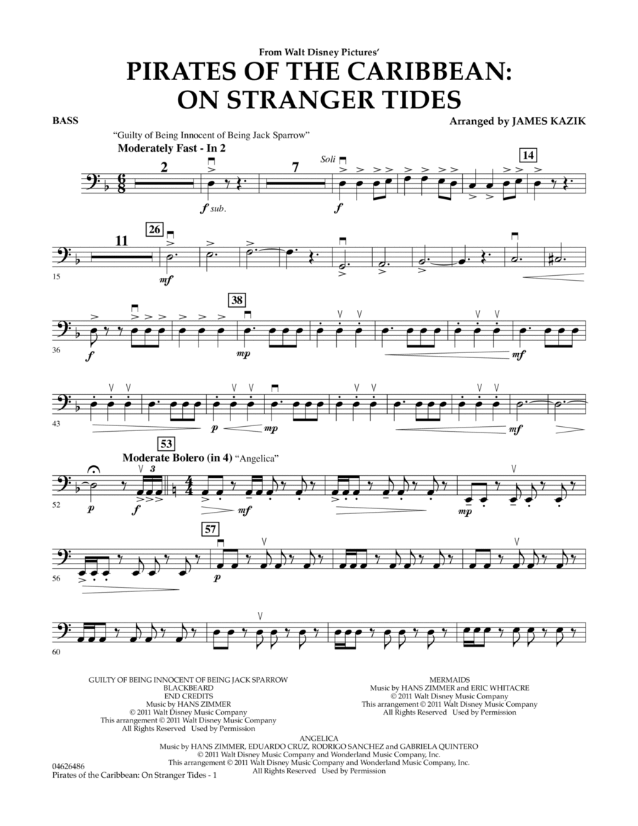Pirates Of The Caribbean: On Stranger Tides - Bass