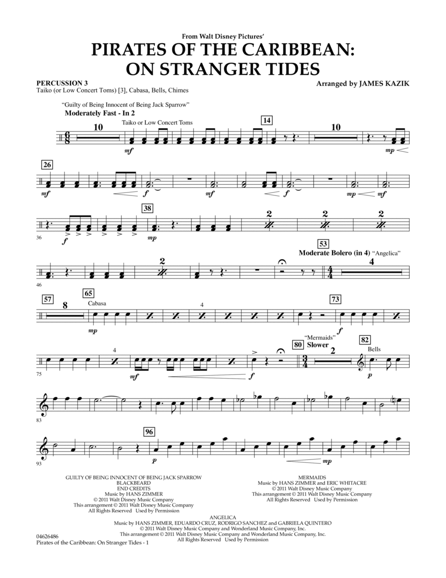 Pirates Of The Caribbean: On Stranger Tides - Percussion 3