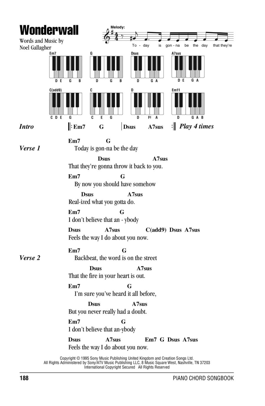 Ukulele u00bb Ukulele Tabs Wonderwall - Music Sheets, Tablature, Chords and Lyrics