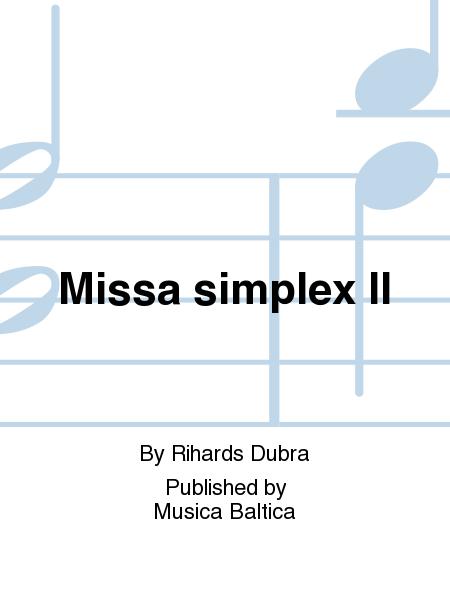 Missa simplex II