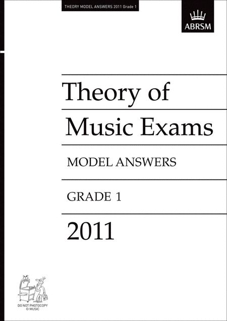 2011 Theory of Music Exams Gr1 Model Answers