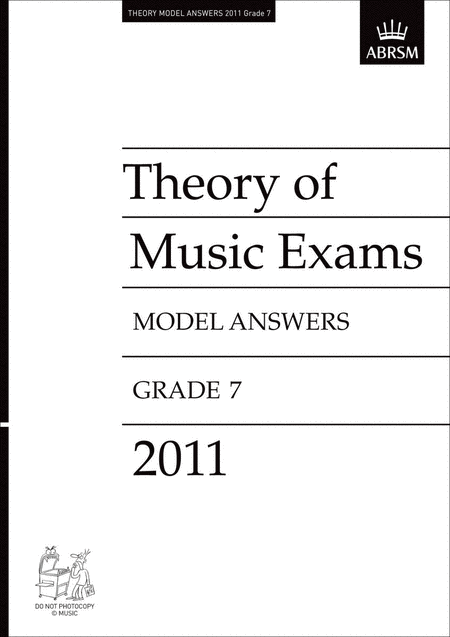 2011 Theory of Music Exams Gr7 Model Answers