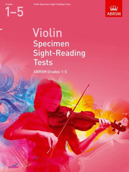 Violin Specimen Sight-Reading Tests Gr. 1-5 from 2012