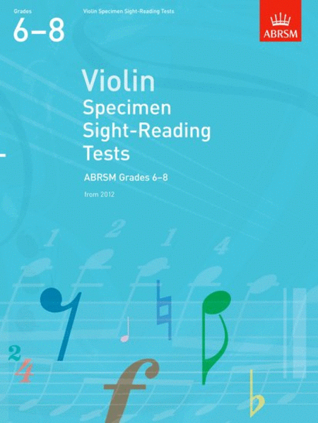 Violin Specimen Sight-Reading Tests Gr. 6-8 from 2012