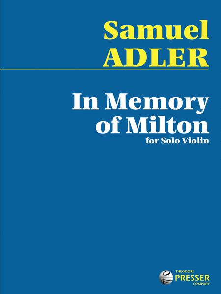 In Memory Of Milton