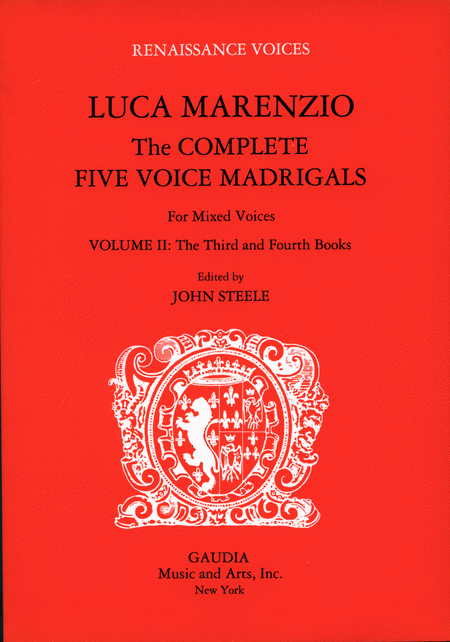Luca Marenzio: The Complete Five Voice Madrigals Volume 2