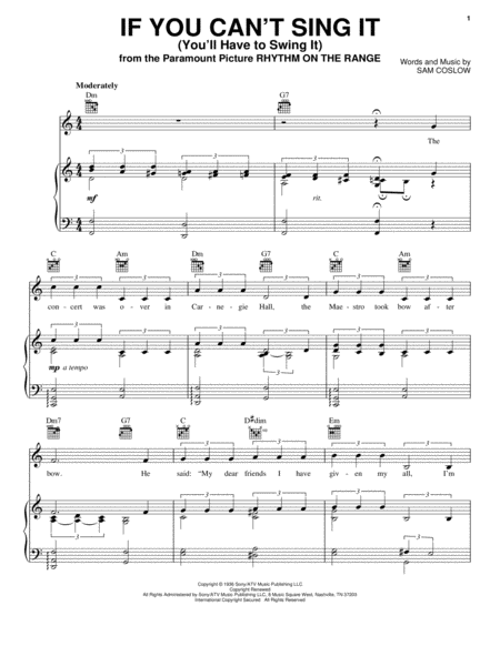 If You Can't Sing It (You'll Have To Swing It)