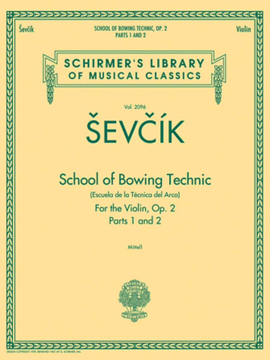 School of Bowing Technics, Op. 2, Parts 1 & 2