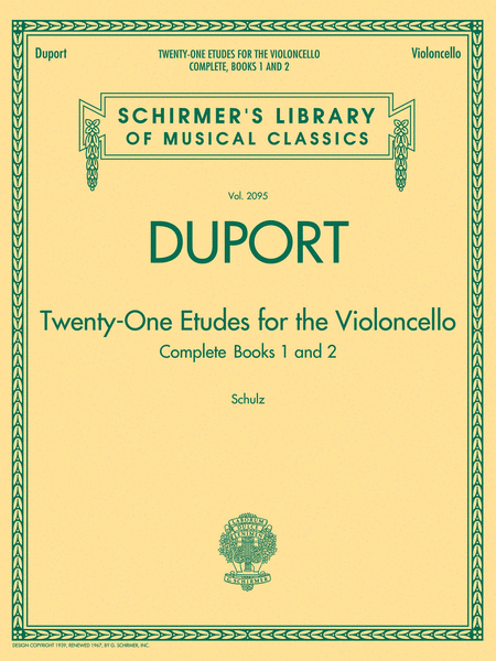 Duport - 21 Etudes for the Violoncello, Complete Books 1 & 2