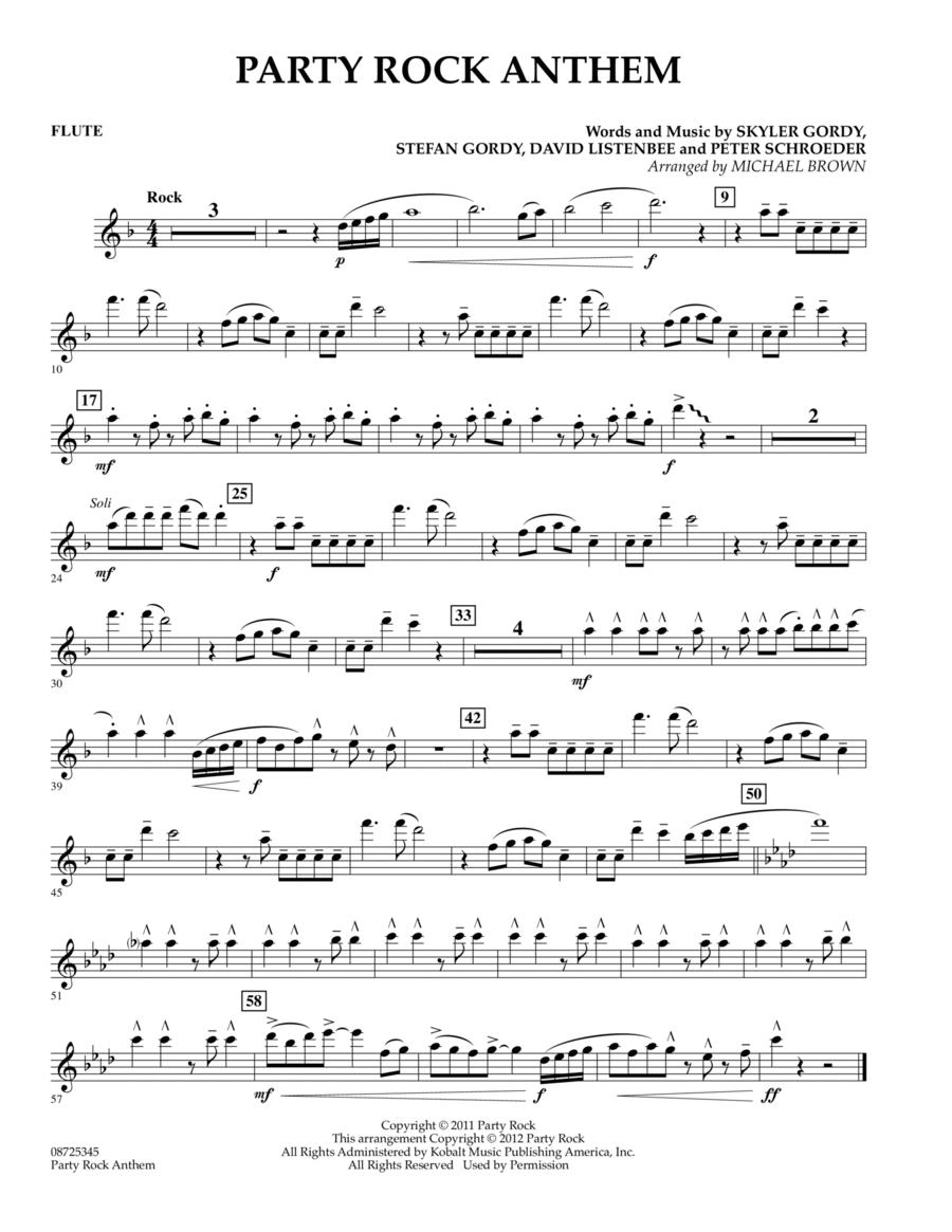 Party Rock Anthem - Flute