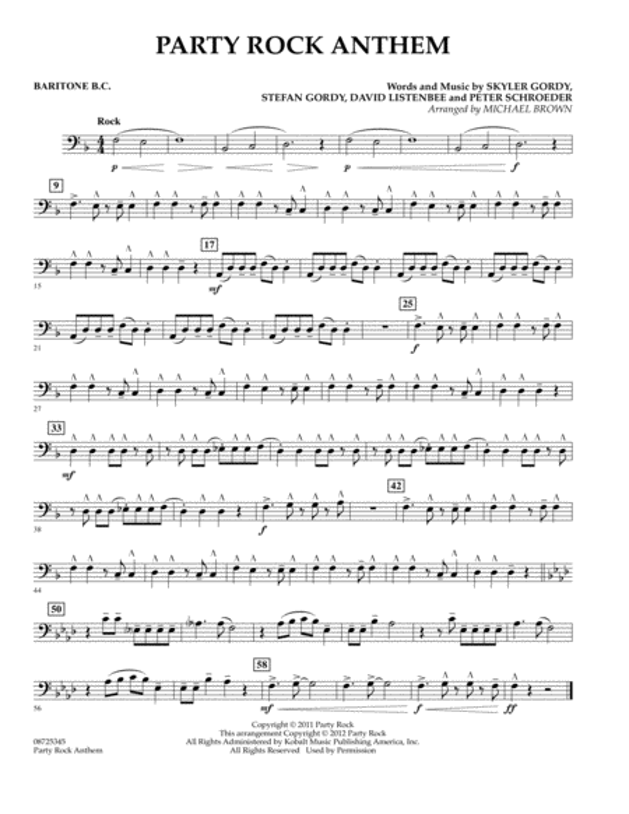 Party Rock Anthem - Baritone B.C.