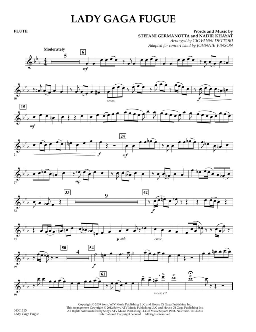 Lady Gaga Fugue - Flute
