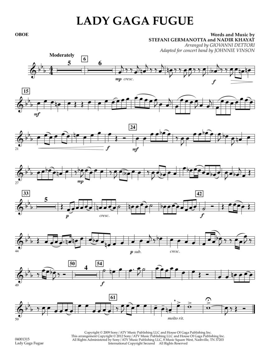 Lady Gaga Fugue - Oboe