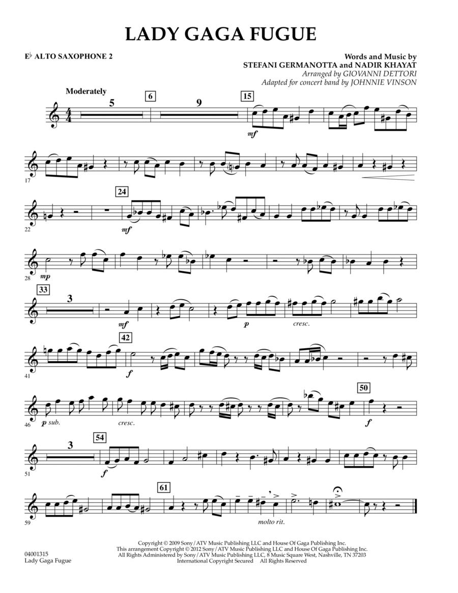 Lady Gaga Fugue - Eb Alto Saxophone 2