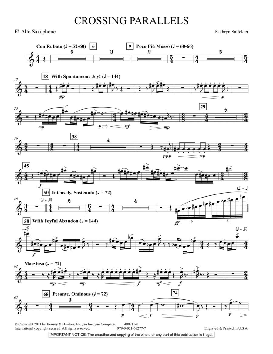 Crossing Parallels - Eb Alto Saxophone