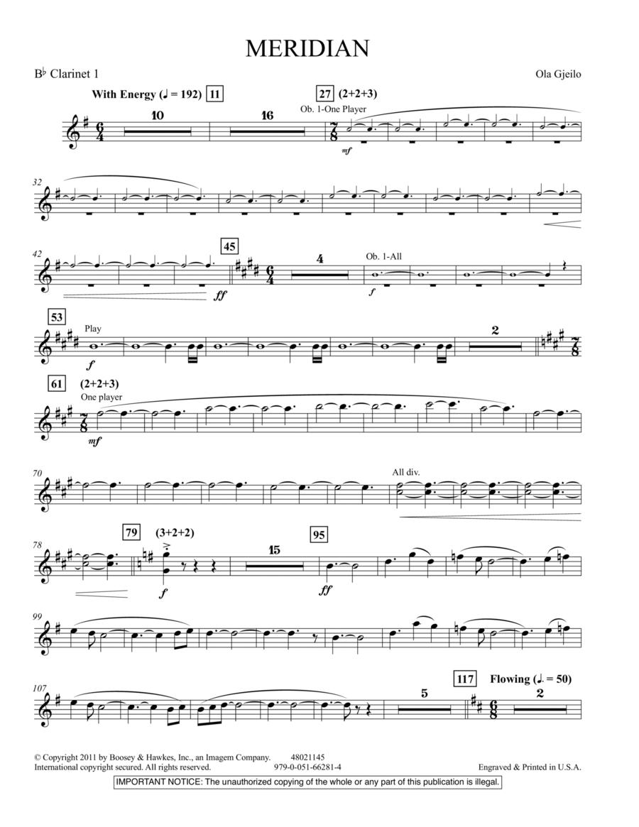 Meridian - Bb Clarinet 1