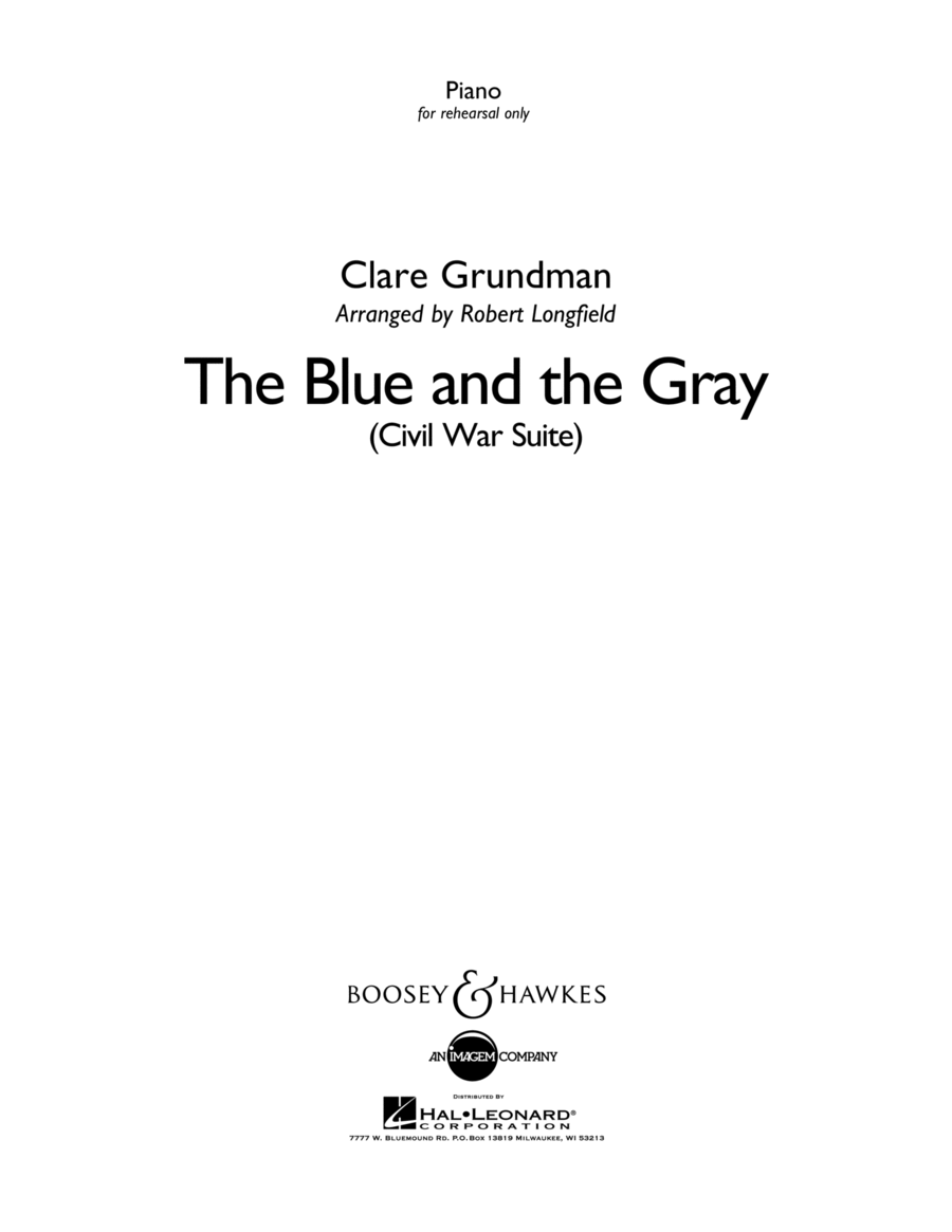 The Blue And The Gray - Piano