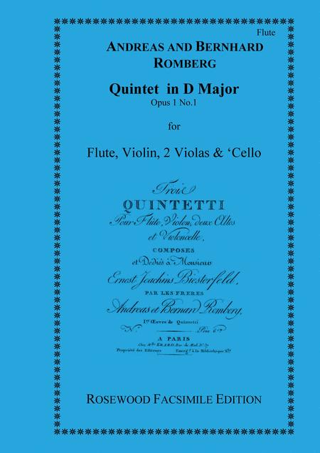 Quintet in D Major, Op 1, No. 1