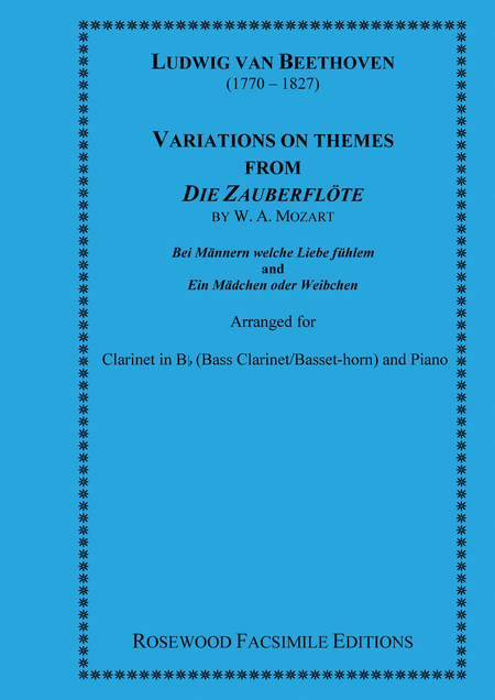 Two sets of Variations on Themes from the 'Magic Flute' (Mozart, W.A.)