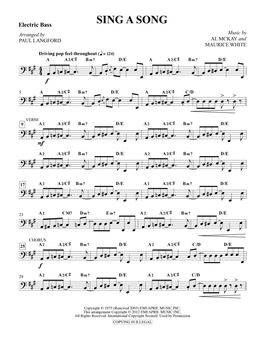 Sing A Song - Bass