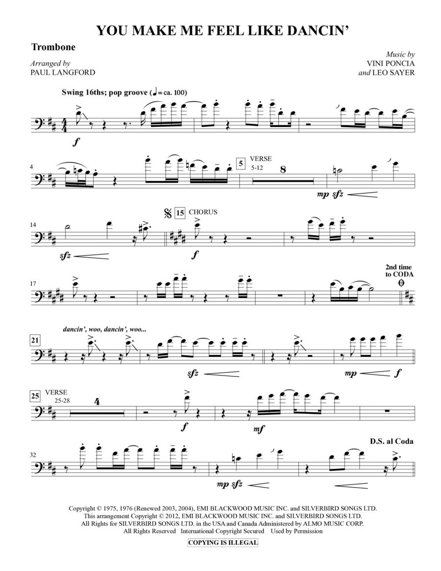You Make Me Feel Like Dancing - Trombone
