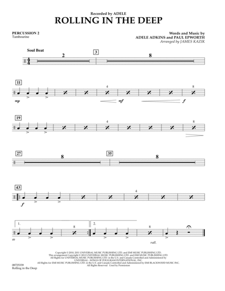 Rolling In The Deep - Percussion 2